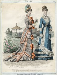 (via Fashion plate - The Englishwomans Domestic Magazine, July 1877)