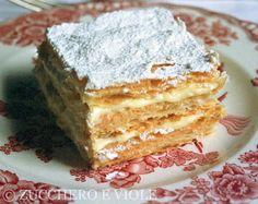 ~zucchero e viole: Millefoglie alla crema~  (repinned from @Danielle Gentry Chalmers Marciano)