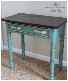 Chalk Paint Furniture Ideas. Distressed Furniture, Vintage Furniture, Refurbished Furniture, Furniture Projects, Furniture Makeover, Repurposed Furniture, Antique Furniture, Decoration, Chalk Paint Furniture