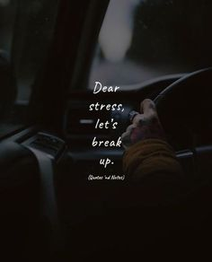 Dear stress, let's break up. —via http://ift.tt/2eY7hg4