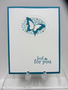 Stamps, Paper, Ink Create!: Just Sharing! Butterfly Punch and Designer Frames Embosslit!