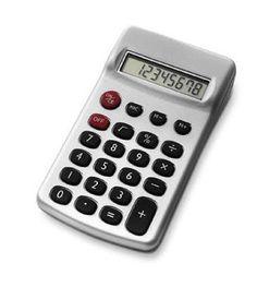 Calculatrice de poche 8 chiffres, piles incluses dim. 6,3 x 11 x 2 cm
