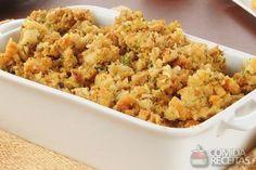 Receita de Farofa de pão com carne em receitas de salgados, veja essa e outras receitas aqui!