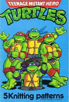 PDF File  Teenage Muntant Ninja Turtles Intarsia by RetroNeedles