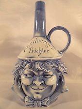 """Schafer Vater German Porcelain Figural Bottle Flask Nurnberger Trichler 8"""""""