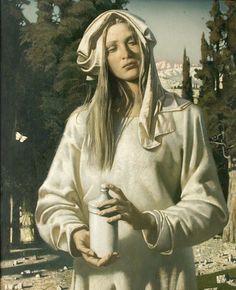 "Painting by Julia Bekhova (b. 1954), 1997, ""Resurrection morning. Maria Magdalina"", oil on canvas."