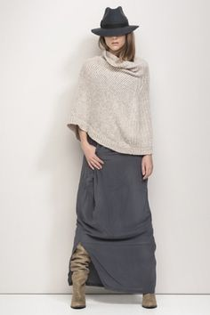SAVY by Humanoid (skirt 225 euro) Poncho Hat 98 euro Skirt Outfits, Dress Skirt, Casual Outfits, Boho Fashion, Winter Fashion, Fashion Design, Vetements Clothing, Parisienne Chic, Outfits