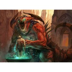 The sire of insanity from Guildmasters' Guide to Ravnica is a terrifying foe that uses its dark magics to torture and break the minds of its victims. They often hide in the darkness of nightclubs and seedy locations to feast on the inner turmoil of unsuspecting victims.