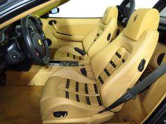 2008 Ferrari 430 2dr Convertible Spider tan and black interior