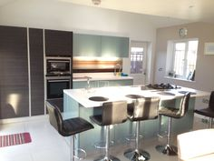 Large kitchen island for working kitchen. Open plan living. Cooks kitchen
