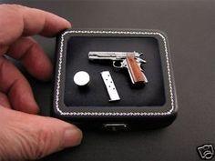 1:6 scale Miniature Colt 1911A1 made in .925 silver!