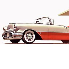Detail Of Oldsmobile Super 88 Convertible Coupe 1956 - Mad Men Art: The 1891-1970 Vintage Advertisement Art Collection