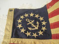 Vintage Yacht Flag Beach Cottage Decor 13 Star Flag With Anchor. $27.99, via Etsy.
