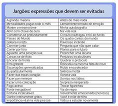 Expressões que devem ser evitadas
