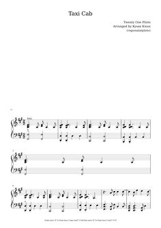 how to play taxi cab on piano