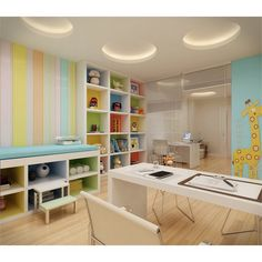 Ideas for medical design product kids Clinic Interior Design, Clinic Design, Medical Office Design, Healthcare Design, Doctors Office Decor, Home Office Decor, Children's Clinic, Kindergarten Interior, Cabinet Medical