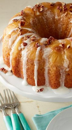 The Southern classic Hummingbird Cake gets a pineapple upside-down twist for an extra-special spin that's surprisingly easy to make. Pro tip: Using baking spray with flour is key to getting this cake out of the pan--regular cooking spray won't cut it!