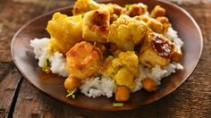 Curried Cauliflower, Chickpeas, and Tofu Recipe (watch to use organic ingredients, modify recipe to reduce sat fats)