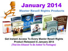 Master Resell Rights January 2014
