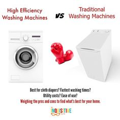 HE Washing Machines vs Traditional Washing Machines.