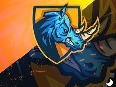 Rhino Esport Team Mascot Logo designed by Simo Oudib. Game Logo Design, Logo Design Services, Hd Logo, Esports Logo, Team Mascots, Sports Games, Animal Logo, Creative Art, Creations