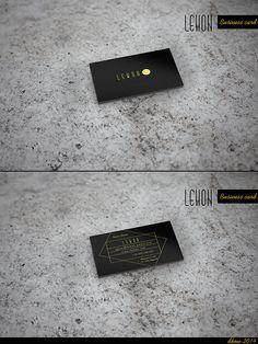 """Business card """" Lemon """" by Dorota Kowalewska, via Behance"""