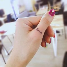 50 beautiful finger tattoos that women simply can& say no to . - 50 gorgeous finger tattoos women just can& say no to – tattoos 50 gorgeous finger tattoos w - Thumb Tattoos, Cursive Tattoos, Small Finger Tattoos, Small Tattoos For Guys, Tattoos For Women, Tattoo Women, Mini Tattoos, Little Tattoos, Trendy Tattoos