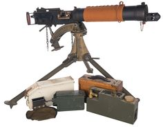 U.S. Ordnance Semi-Automatic Vickers Machine Gun, with Tripod and Accessories