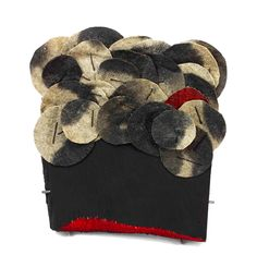 Myung Urso Brooch: Forest, 2013 Linen, Asian ink, Wood, Thread, Gesso, Sterling silver, Lacquer 11 x 12.5 x 1 cm