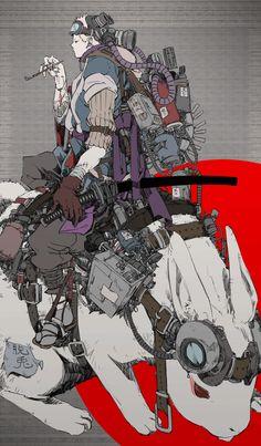 「虎の威を借る兎」/「ライオネル山崎」のイラスト