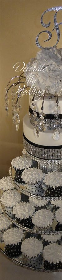 Crystal Cupcake Stand 4TIERS