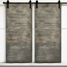 Dogberry Modern Slab 82-inch Double Barn | Overstock.com Shopping - The Best Deals on Wall Paneling