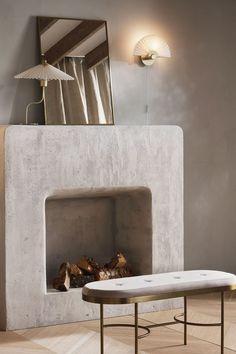 Spiegel met metalen lijst - Goudkleurig - HOME | H&M NL