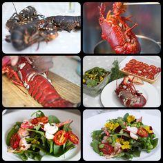 """Season salad with """"Oosterschelde"""" lobster #lobster #oosterschelde"""
