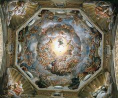 Correggio: Assunzione di Maria, affresco, 1526-1530, duomo di Parma