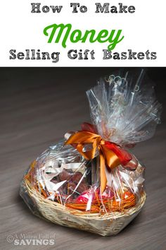 Did you know that you can make money by selling Gift Baskets? It's a great way to earn some extra cash on the side- How To Make Money Selling Gift Baskets Gift Baskets For Men, Themed Gift Baskets, Holiday Baskets, Diy Gifts To Sell, Crafts To Make And Sell, Valentine Gift Baskets, Valentines Diy, Boyfriend Gift Basket, Diy Décoration