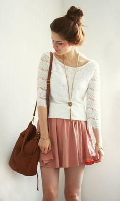 top: Primark skirt: H bag: Primark bracelets: Vintage necklace: H