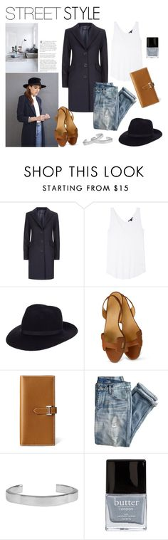 """""""Street Style"""" by canvas-moods ❤ liked on Polyvore featuring Harrods, Theyskens' Theory, River Island, Hermès, J.Crew, Chloé, Butter London, StreetStyle, casual and fashionset"""
