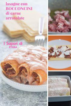 Un modo diverso di gustare la lasagna con foto passo passo Lasagne con bocconcini d carne arrotolate #giallozafferano #lasagne #pasqua