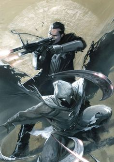 Moon Knight & Punisher by Gabriele Dell'Otto