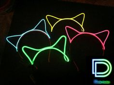 Light Up Cat Ear Headband by theDoodleDudes on Etsy