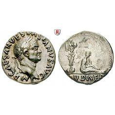 Römische Kaiserzeit, Vespasianus, Denar 69-71, vz: Vespasianus 69-79. Denar 17 mm 69-71 Rom. Kopf r. mit Lorbeerkranz IMP CAESAR… #coins