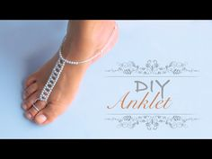 How to make an anklet | DIY anklet easy & simple | make barefoot sandals - YouTube