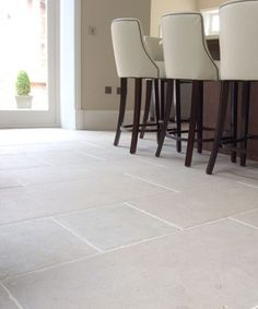 Interior Kitchen flagstones - Under floor heating thumbnail Flooring, Limestone Flooring Kitchen, Limestone, Natural Stone Tile Floor, Ceramic Tile Floor Living Room, House Flooring, White Stone Fireplaces, Limestone Flooring, Home Decor