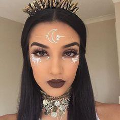 Algunas ideas para lucir bella y sexy sin necesitar de tantos accesorios en época de carnaval ! Rave Makeup, Sfx Makeup, Costume Makeup, Makeup Art, Beauty Makeup, Exotic Makeup, Fairy Makeup, Mermaid Makeup, Witch Makeup