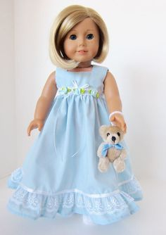 American Girl Doll: Sky Blue In Clouds of by SewSpecialByBarb