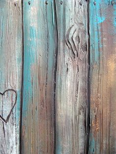 rustic faux wood fence PAINTING art personalize with names or initials rustic home decor rustic wall decor wedding gift valentines day Rustic Wall Decor, Rustic Walls, Fence Painting, Painting On Wood, Wedding Wall Decorations, Decor Wedding, Color Washed Wood, Wood Fence Design, Fence Styles