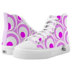 Vibrant pink purple abstract circles High-Top sneakers - trendy gifts cool gift ideas customize