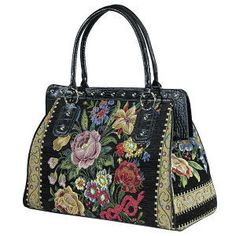 Shimmering beads and sequins adorn the front of this roomy bag. Meticulously…