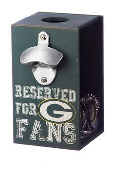Green Bay Packers Bottle Opener and Cap Caddy